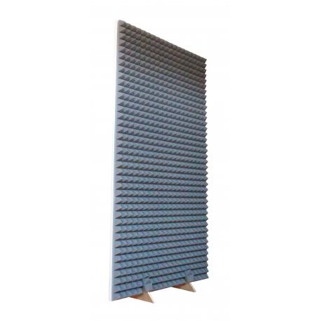 Obojstranný akustický paraván 200 x 100 cm s penovými ihlanmi