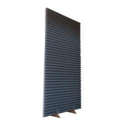 Jednostranný akustický paraván 200x100 cm osadený penovými ihlanmi